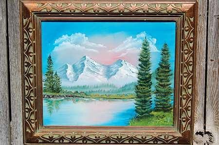 Lake Painting - Crystal Lake by Jesus Raya jr