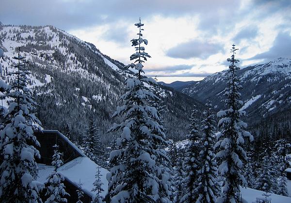 Washington State Photograph - Crystal Mountain Dawn by Lorraine Devon Wilke