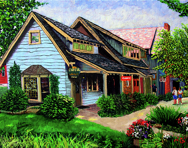 Shop Painting - Crystal Source Daily Grind by Stan Hamilton