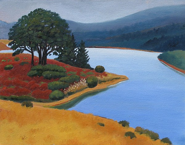 Reservior Painting - Crystal Springs by Gary Coleman