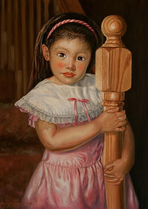 Oil Portrait Painting - Crystalyn Ann by Rosencruz  Sumera