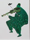 Cuarteto Series Viola Painting by Victor Varela
