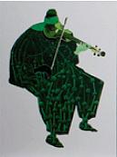 Cuarteto Series Violin 1 Painting by Victor Varela