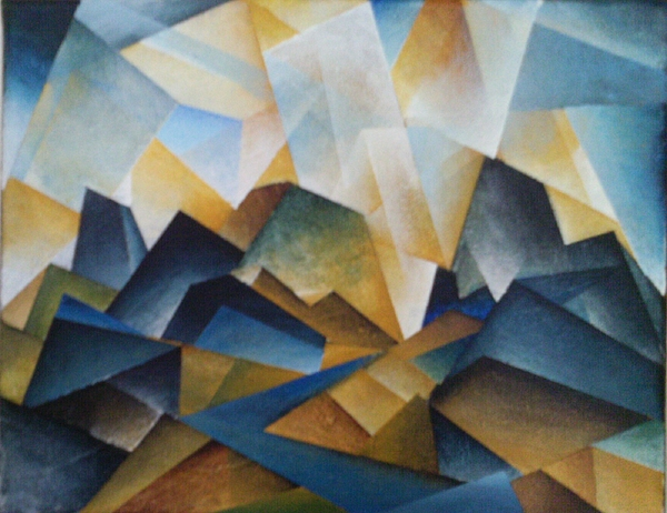 Cubist Landscape Painting By Brandon Allebach