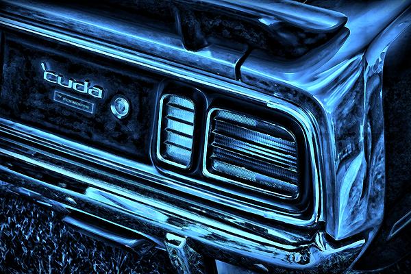 Blue Photograph - cuda By Plymouth by Gordon Dean II