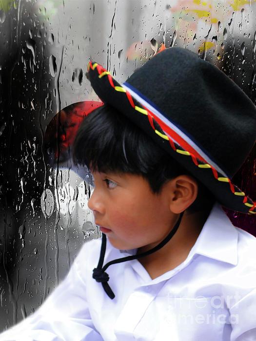 Rain Photograph - Cuenca Kids 880 by Al Bourassa