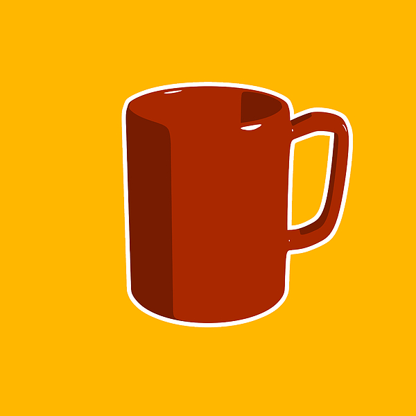 Retro Digital Art - Cup Of Coffee Graphic Image by Pixel Chimp