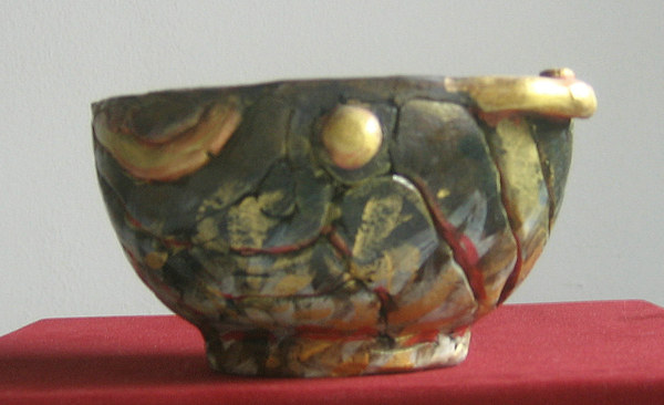 Pottery Sculpture - Cup Polychrome by Dambros AFerrari