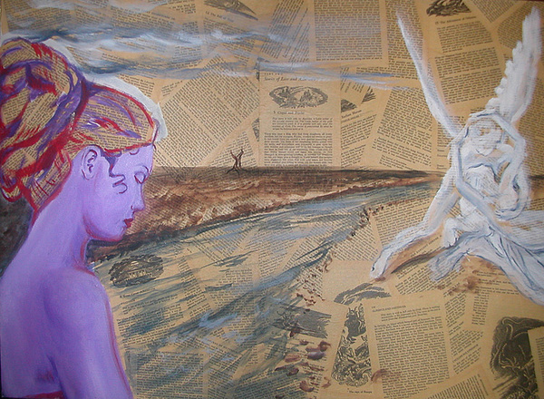 Greek Mythology Painting - Cupid And Psyche by Aimee Johnson