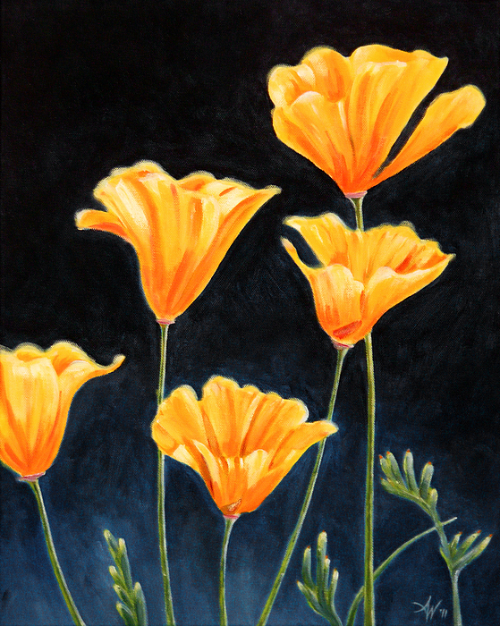 Cups Painting - Cups Of Gold by Arie Van der Wijst