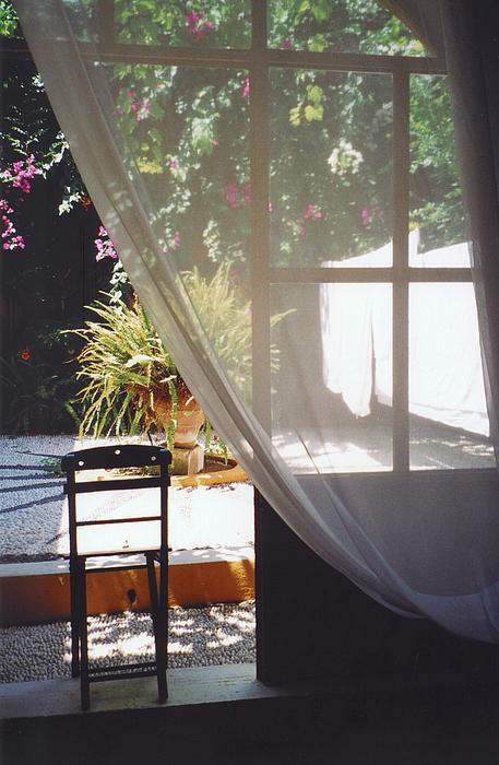 Rhodes Photograph - Curtain by Andrea Simon