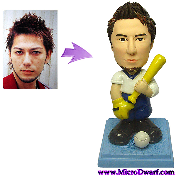 Sculpture Sculpture - Custom Baseball Figurine From Your Photo by MicroDwarf