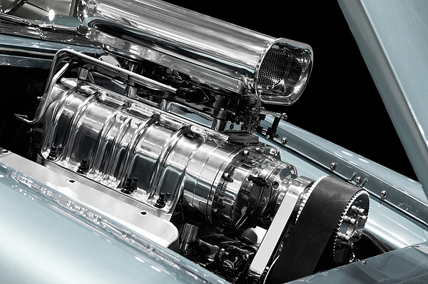 Engine Photograph - Custom Racing Car Engine by Oleksiy Maksymenko