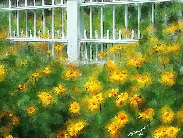 Flower Painting - Cutting Gardens II by Eddie Durrett