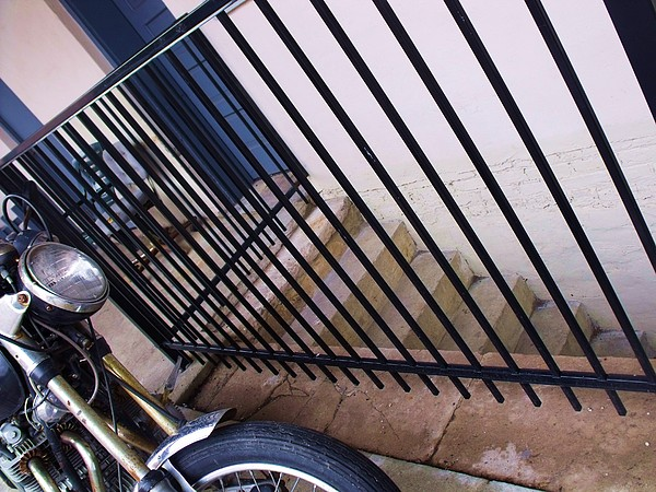 Motorcyle Photograph - Cycle And Stairs I by Anna Villarreal Garbis