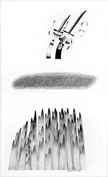 Fantasy Drawing - Cycloptic Honeymoon by Tony Paine