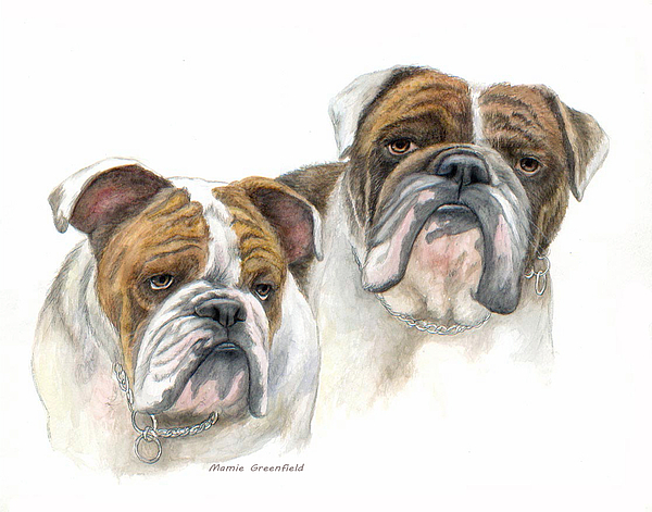 Portraits Painting - daBullies by Mamie Greenfield