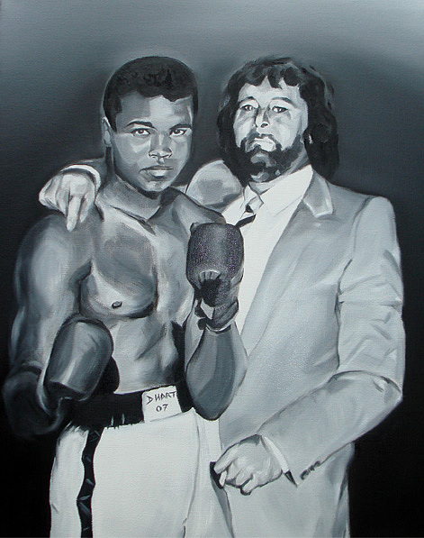 Dad And Ali Painting by Davinia Hart