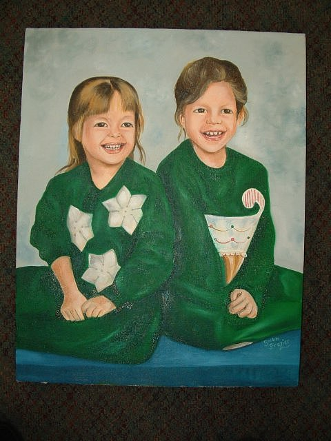 Daddys Little Girls Painting by Gwendolyn Frazier