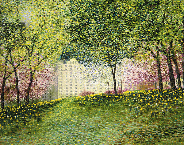 Central Park Painting - Daffodil Hill  Central Park by Patrick Antonelle