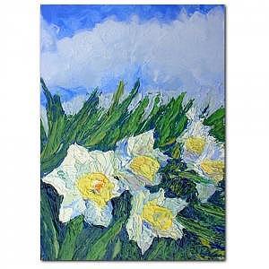 Plein Air Painting - Daffodil Joy Print by R Grantham