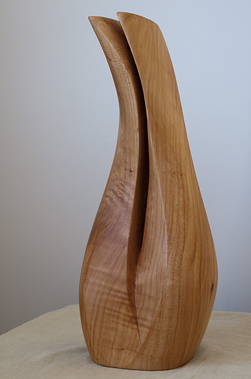 Sculpture. Native Timber Sculpture - Daffodil by Peter Hill