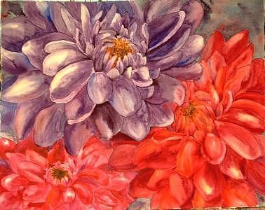 Dahlia Painting - Dahlia 4 by Diane Ziemski