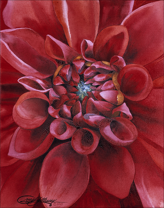 Flower Painting - Dahlia by Craig Gallaway