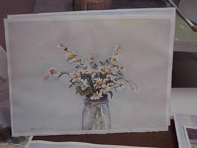 Daisy A Day Painting by Maureen Wilkinson