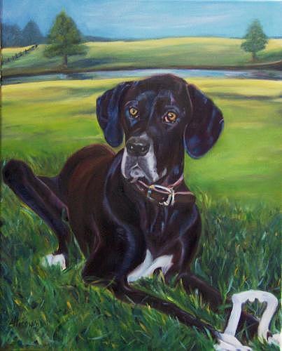 Portrait Painting - Daisymae by Stephanie Allison