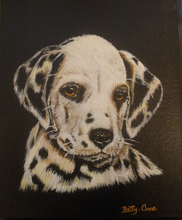 Dog Painting - Dalmation by Betty-Anne McDonald
