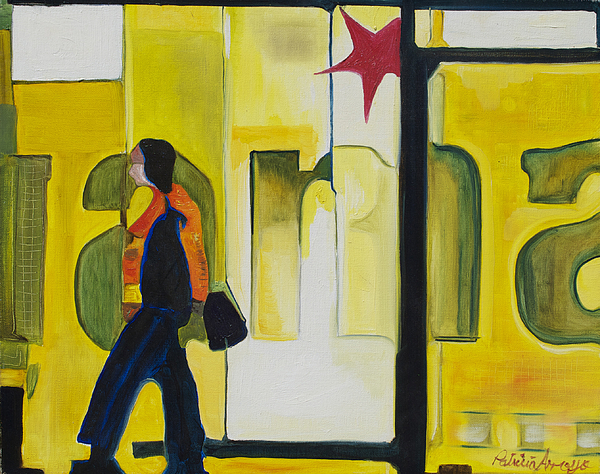 Abstract Painting - Dam Shopper by Patricia Arroyo
