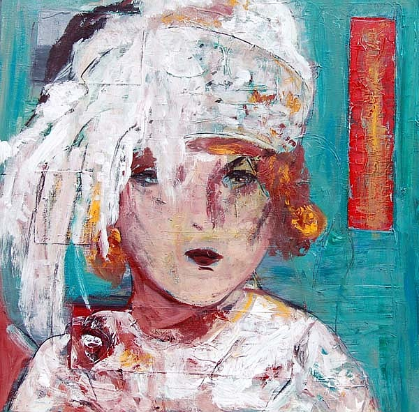 Woman Painting - Dama Con Turbante by Soledad  Fernandez