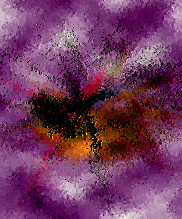 Abstract Digital Art - Damaged But Not Broken by Ruth Palmer