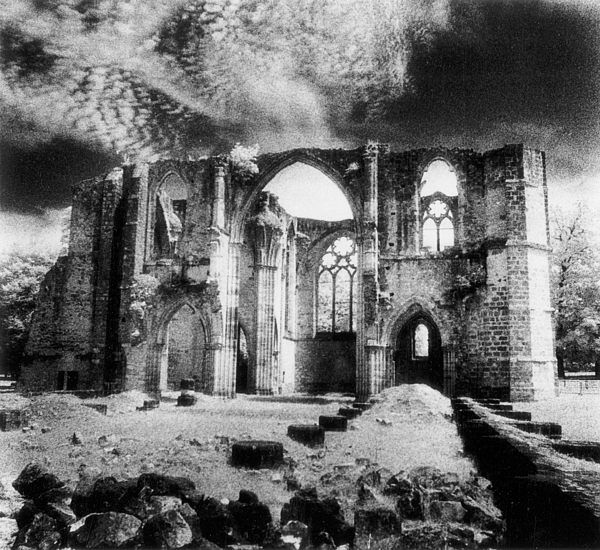 Architecture; Abbaye; Medieval; Gothic; Ruin; Ruins; Ruined; Remains; Tracery; Picturesque Photograph - Dammarie Les Lys Abbey by Simon Marsden