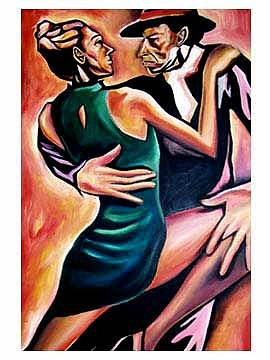 Dance Of Passion Painting by Corey Barksdale