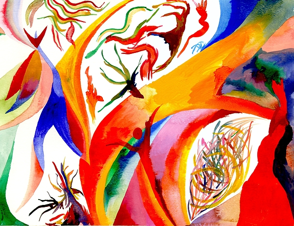 Shaman Painting - Dance Of Shaman by Peter Shor