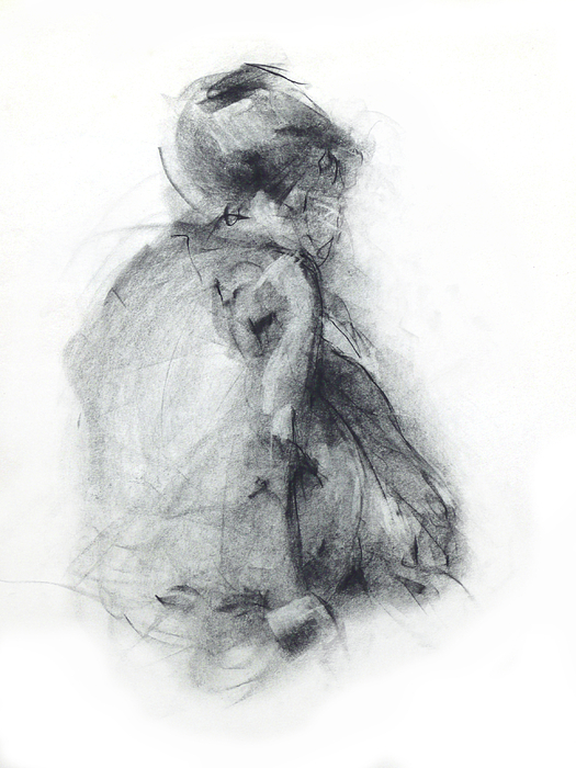 Dancer Drawing - Dancer - Tender by Christopher Williams