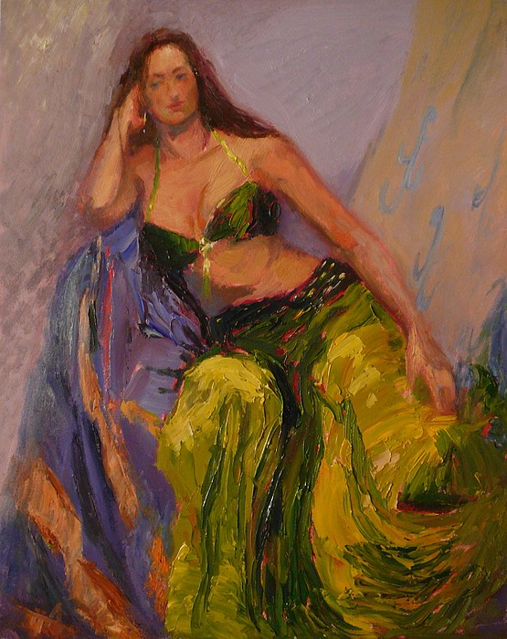 Girl Painting - Dancer At Rest by Irena  Jablonski