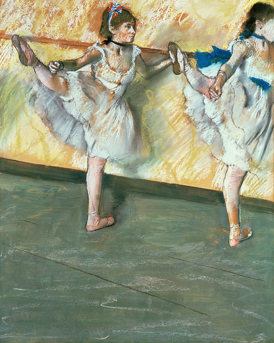 Impressionist Pastel - Dancers At The Bar by Edgar Degas