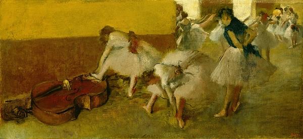 Dancers Painting - Dancers In The Green Room by Edgar Degas