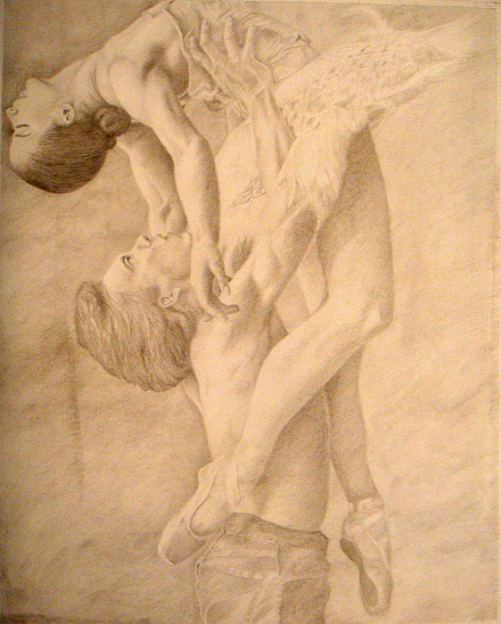 Dancers Drawing - Dancers by Sarabeth Kett