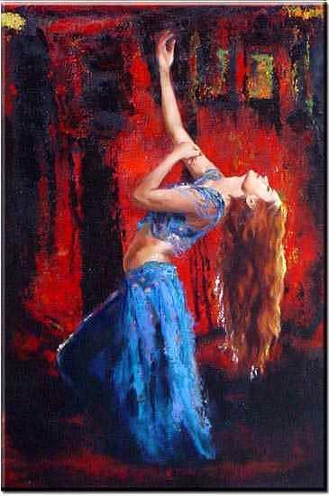 Dancer Painting - Dancing In Eastern Myth by Yvonne Yu