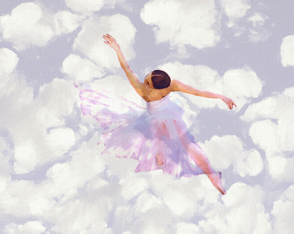 Dancing In The Clouds Painting by Steve K