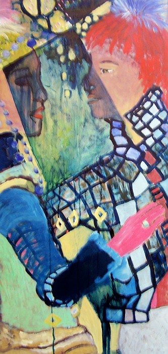 Dance Painting - Dancing In The Rain by Geraldine Liquidano