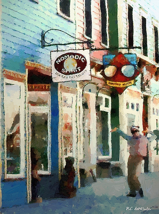 Colorado Painting - Dancing In The Street by RC DeWinter