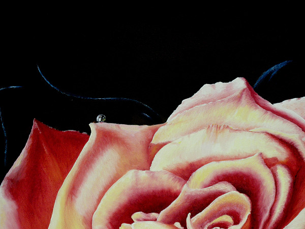 Roses Painting - Dancing On Rose Petals Detail One by Ivan Rijhoff