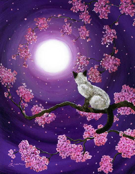 Zen Painting - Dancing Pink Petals by Laura Iverson