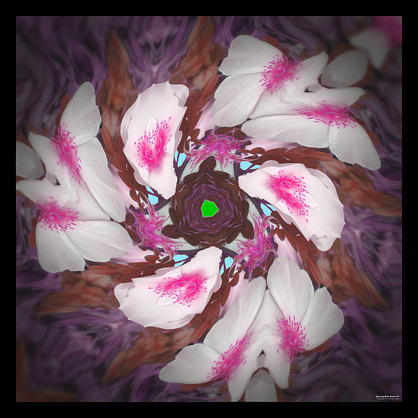 Rose Digital Art - Dancing Rose Petals 57 by Brian Gryphon