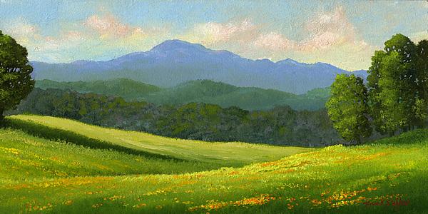 Landscape Painting - Dandelion Meadows by Frank Wilson